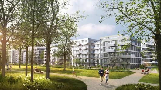 """So soll das """"Quartier Luisenpark"""" nach dem städtebaulichen Konzept des Büros brh Architekten aussehen"""