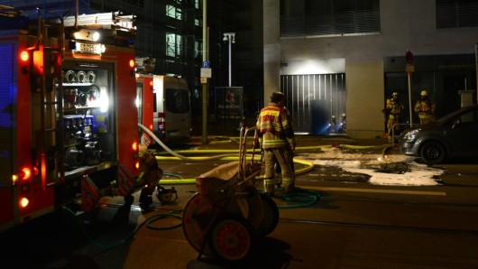 Die Feuerwehr löschte die Flammen