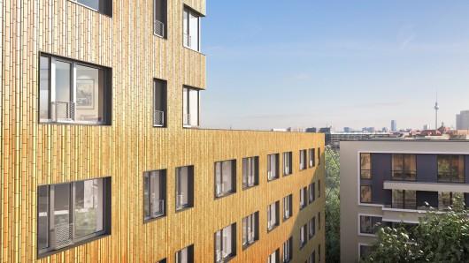 Bis Mitte 2019 will   die Berliner Groth Gruppe einen 57 Meter hohen Turm mit 266 Wohneinheiten fertigstellen. Die Mietdauer beträgt maximal zwei Jahre