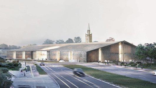 Außenansicht des geplanten Museums