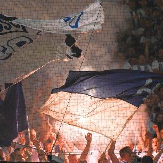 Hertha-Fans in Rostock