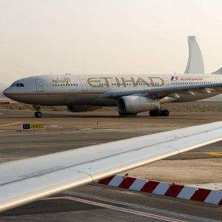 Ein Flugzeug der Etihad Airways