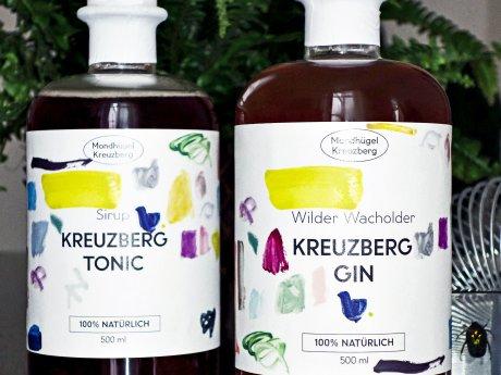 Tonic-Sirup und Kreuzberg Gin von Mondhügel werden aus natürlichen Zutaten in der Markthalle Neun gefertigt.