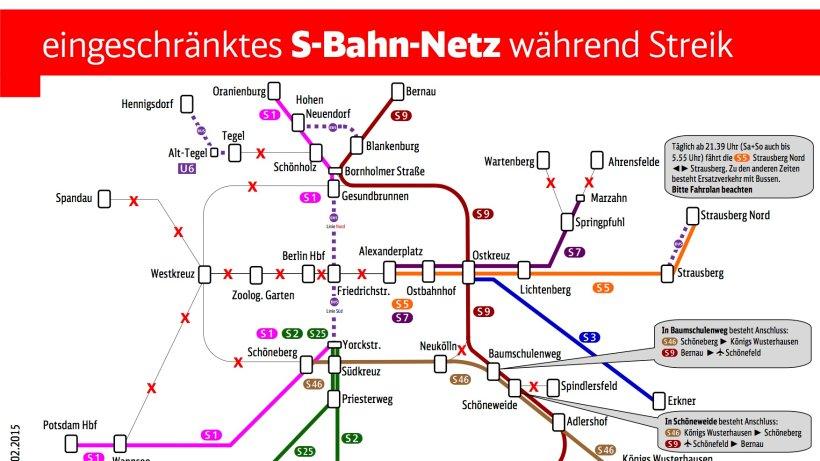 Fahrplan Streik Bahn