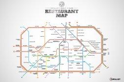 Lecker: Die U-Bahnmap für Gastro-Fans