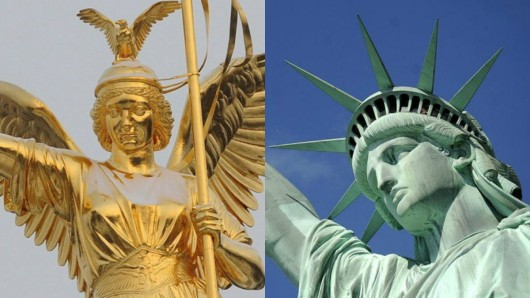 Siegessäule und Freiheitsstatue
