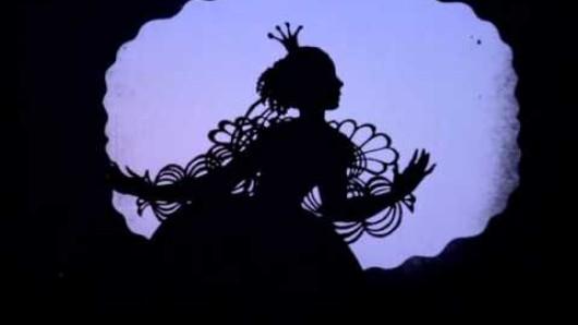 Szene aus einem Scherenschnitt-Film von Lotte Reiniger