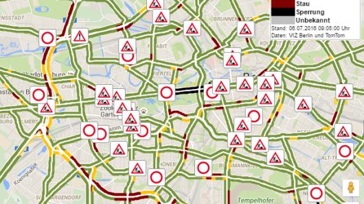 Die Verkehrslage am Mittwochmorgen