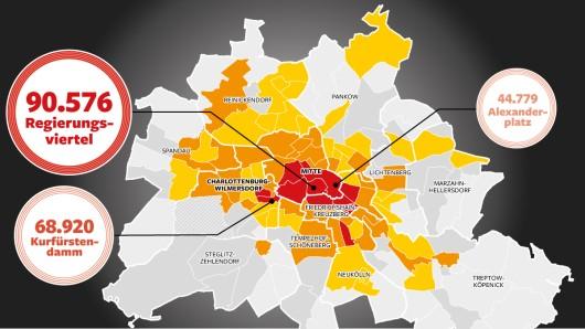 Kriminalitätsverteilung in Berlin