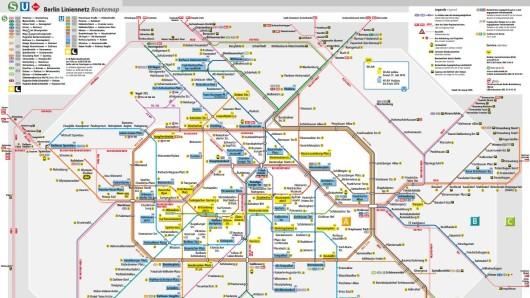 Die BVG hat diese Karte mit WLAN-Zugängen veröffentlicht