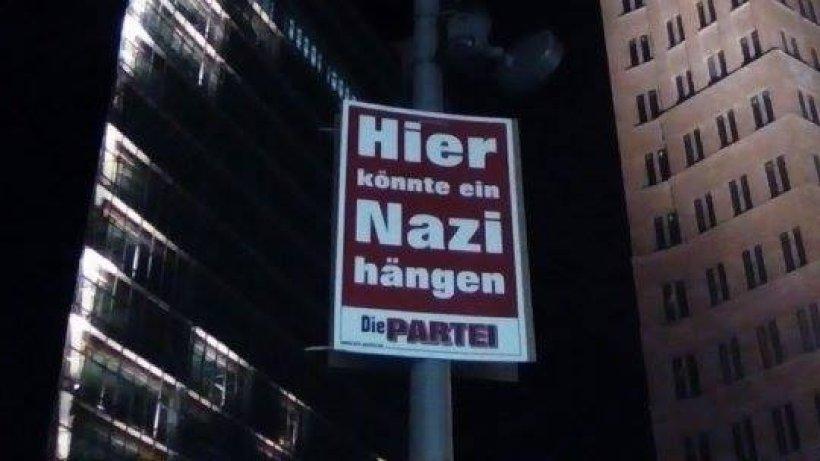 berliner  u0026quot partei u201c wirbt mit  u201ehier k u00f6nnte ein nazi h u00e4ngen