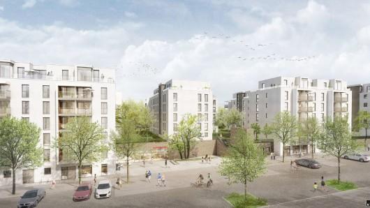 Ein neues Stadtquartier mit knapp 300 Wohnungen soll an der Bautzener Straße entstehen