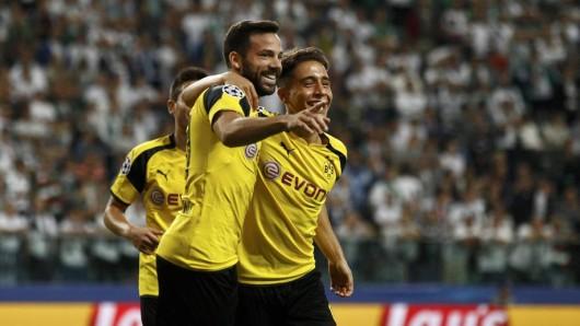 Gonzalo Castro (l.) freut sich über seinen Treffer zum 5:0