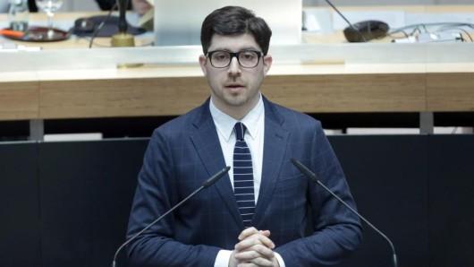 Christopher Lauer spricht bei einer Sitzung des Berliner Abgeordnetenhauses.