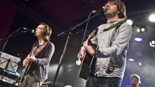 Francesco Wilking (l.)  und Moritz Krämer auf der Bühne