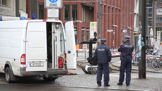 Die Polizei im Einsatz in Mitte