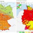 Links die Karte des DWD: Tief Thomas zieht hier an Berlin vorbei. Rechts die Karte der Unwetterzentrale. Dort wird vor einem Unwetter in Berlin gewarnt (Stand Donnerstagvormittag)