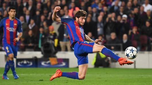 Sergi Roberto trifft für Barcelona zum 6:1