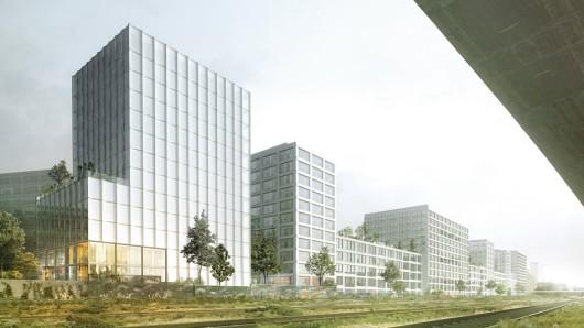 Im Architekturwettbewerb für das Gewerbegebiet des Quartier Heidestraße ist der Entwurf des Architekturbüros EM2N Architekten (Zürich) zur Realisierung empfohlen worden.