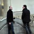 Die beiden Angeklagten im Gericht