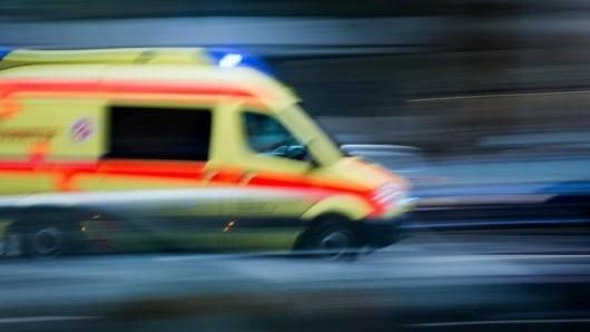 Ein Krankenwagen im Einsatz.