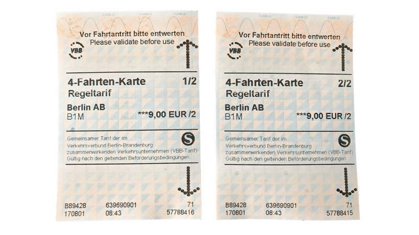 4 fahrten karte 4 Fahrten Karte der S Bahn gibt's plötzlich als zwei Tickets