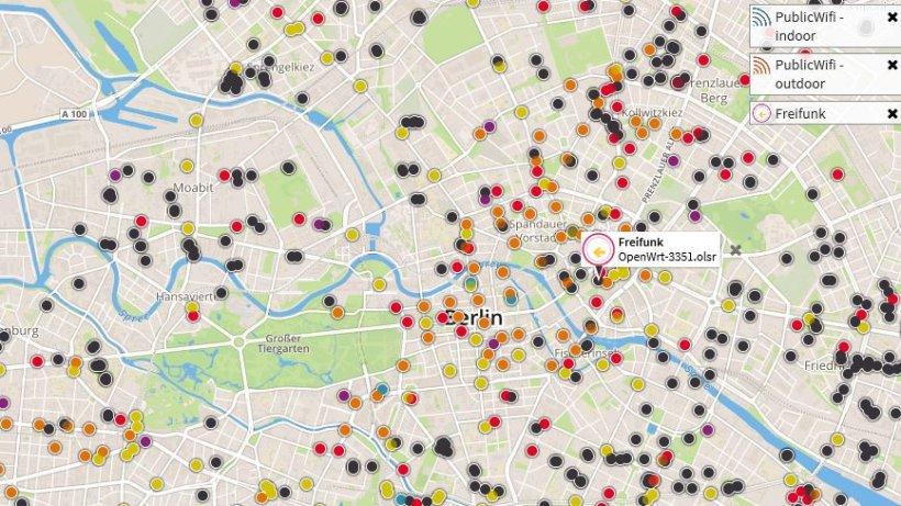 karte zeigt ber 3300 ffentliche wlan hotspots in berlin berlin aktuelle nachrichten. Black Bedroom Furniture Sets. Home Design Ideas
