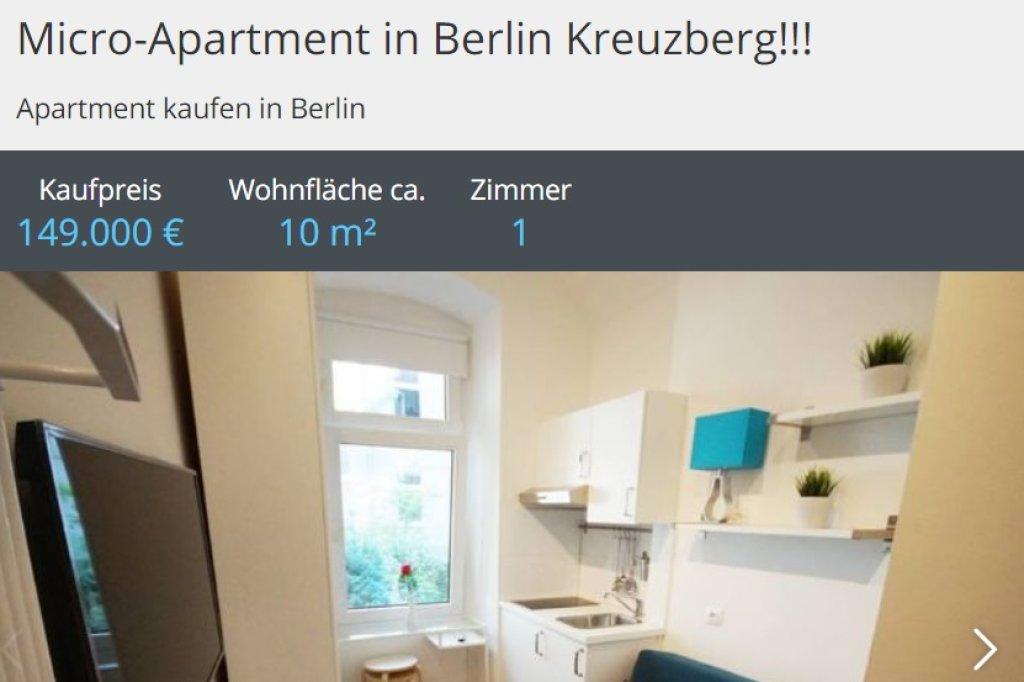 9,7 Quadratmeter-Wohnung in Kreuzberg kostet 149.000 Euro - Berlin ...
