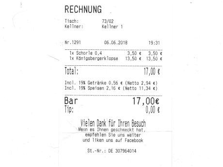 Unter 20 Euro in der Walid Speisemeisterei