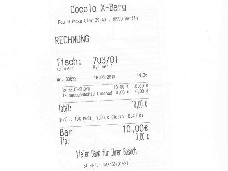 Unter 20 Euro im Cocolo