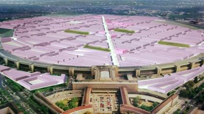 Für seinen Entwurf im Ideen-Wettbewerb hat Klaus Schäfer Mietskasernen auf dem gesamten Tempelhofer Feld geplant.