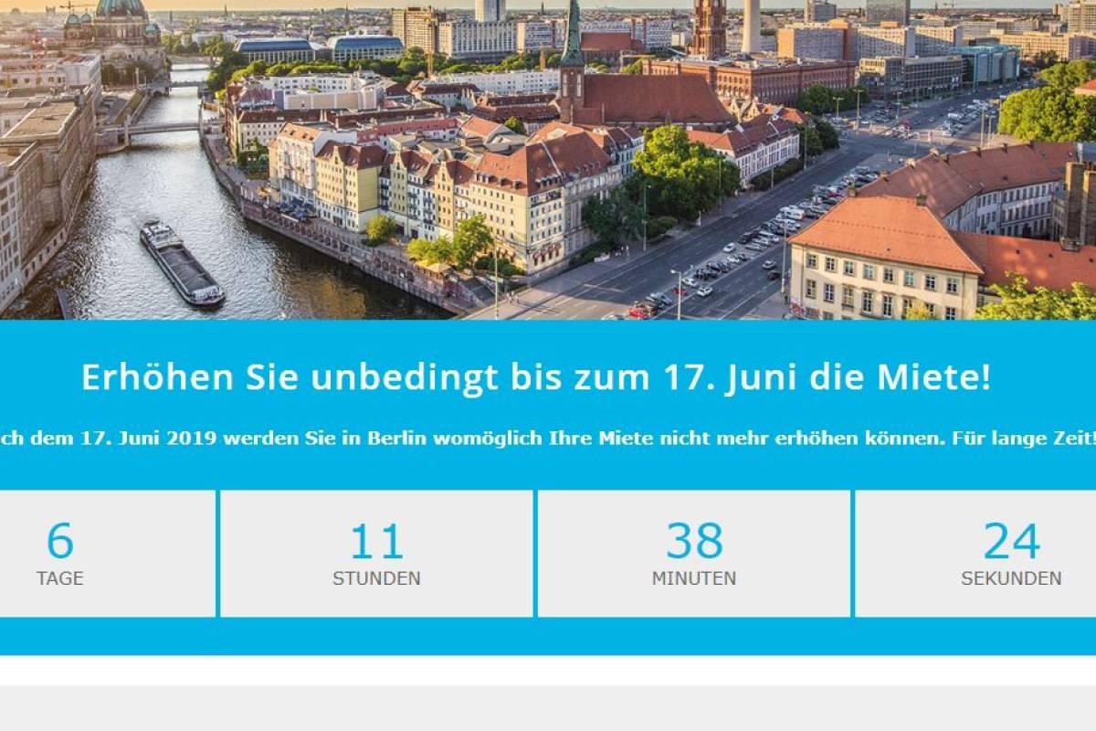 Haus Und Grund Berlin Rät Vermietern Noch Schnell Miete Erhöhen