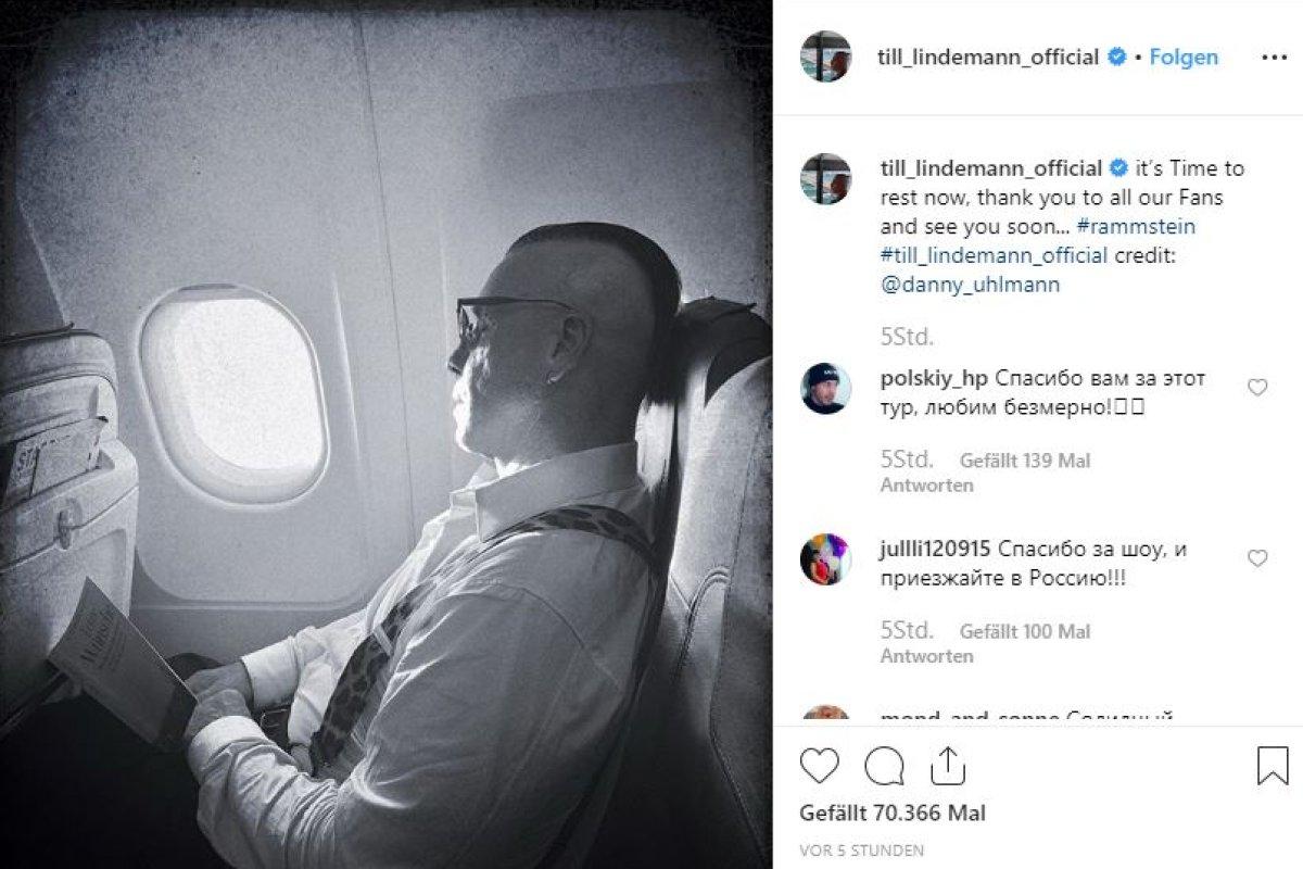 Rammstein-Sänger Till Lindemann verabschiedet sich in Pause