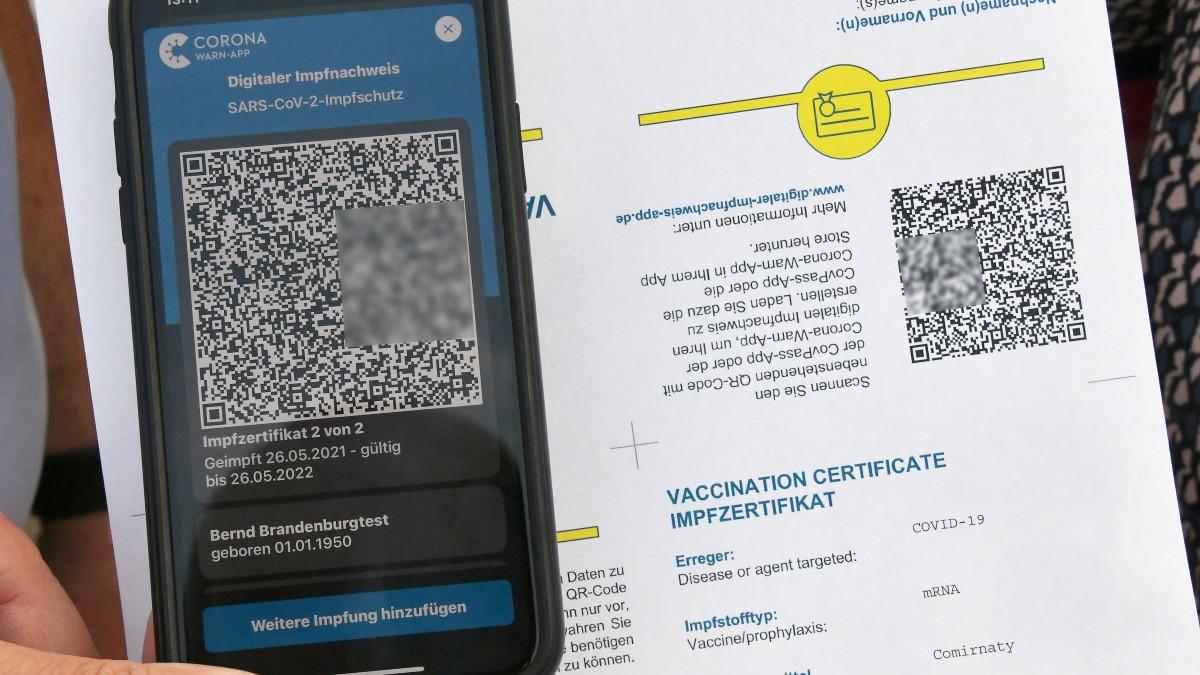 Digitaler Impfpass Darum Sollte Man Die Qr Codes Nicht Verbreiten Berliner Morgenpost