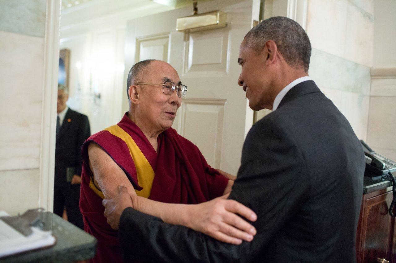Mit dem Dalai Lama