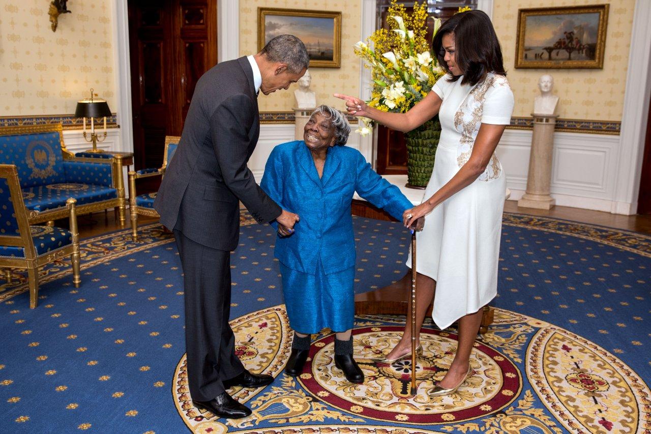 Die 106-jährige Virginia McLaurin zu Besuch im Weißen Haus