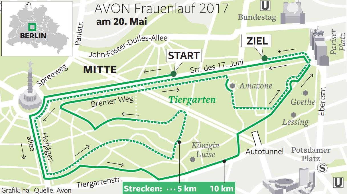 Avon Frauenlauf Berlin Strecke Avon Berliner Frauenlauf 2019 01 12
