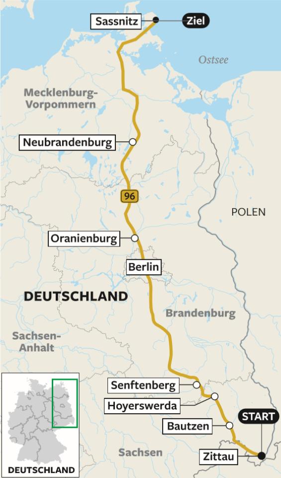 Roadtrip Auf Der B96 Von Sachsen Uber Berlin Nach Sassnitz Berliner Morgenpost