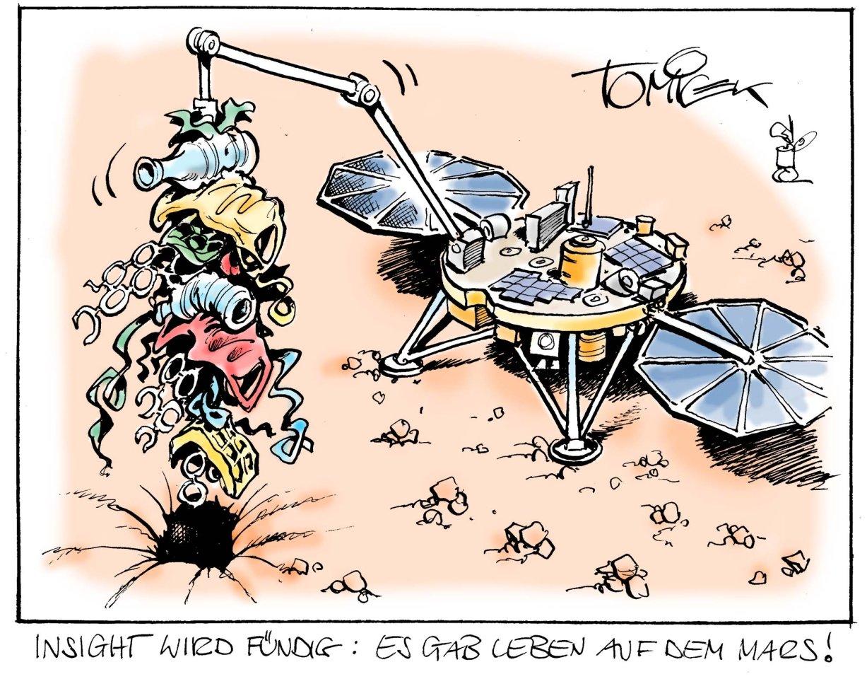 """""""InSight"""" wird fündig: Es gab Leben auf dem Mars!"""
