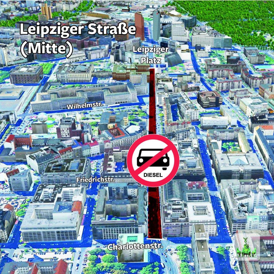 Hier sehen Sie die Fahrverbote in Berlin im Detail