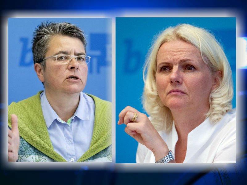 Monika Hermann (l.) kritisiert ihre Parteifreundin Regine Günther.