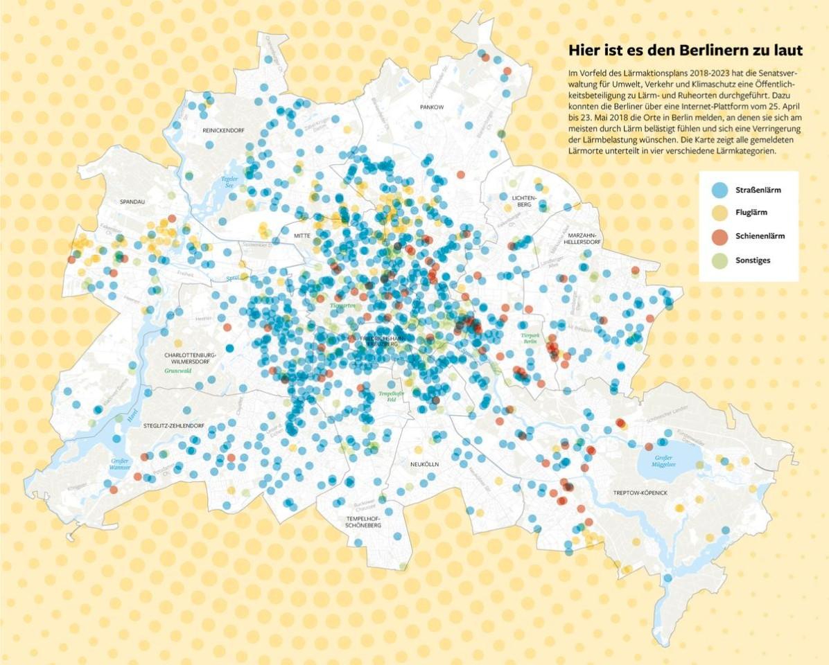 Wo es den Berliner zu laut ist
