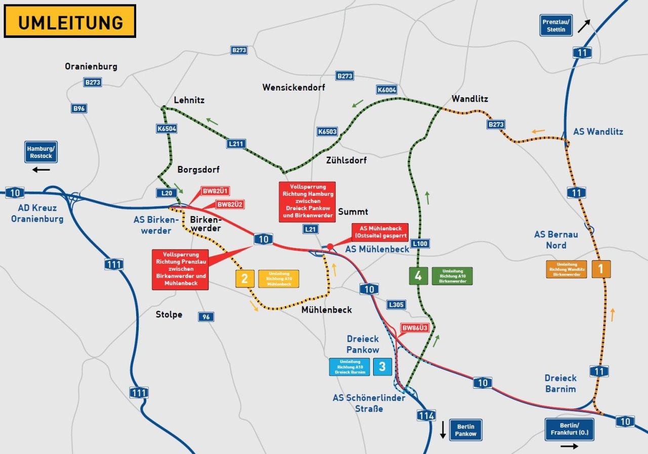 Der nördliche Berliner Ring wird am Wochenende gesperrt.