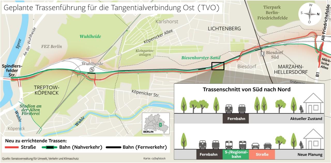 Bei der Tangentialverbindung Ost und Ortsumfahrung Ahrensfelde kommt die Planung langsam voran. Das sorgt auch für Gegenwehr.