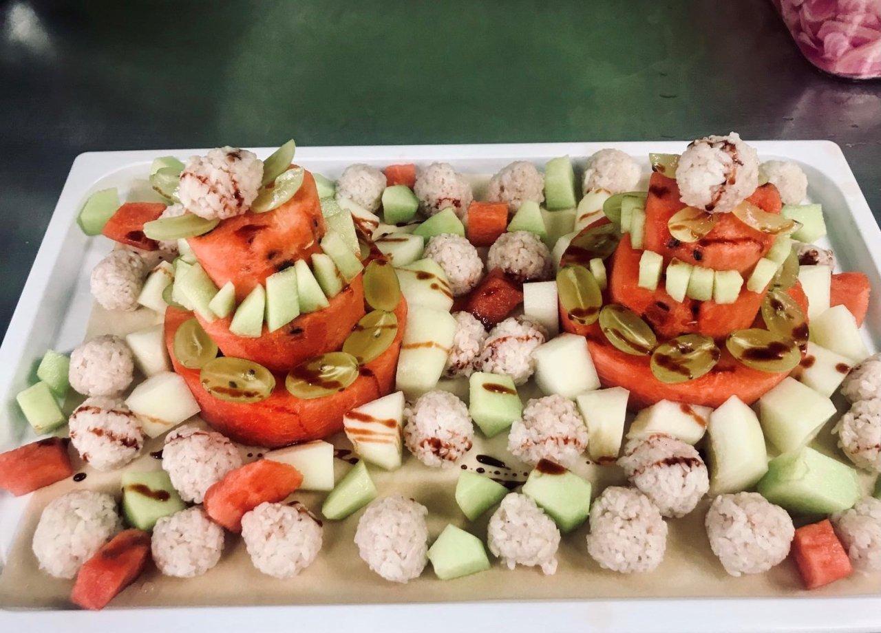 Hier gibt es stets eine gesunde Mischung aus Obst und Gemüse.