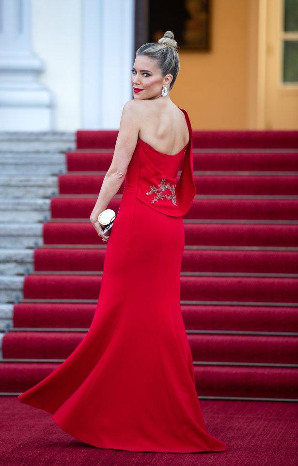 Sylvie Meis kommt zu Ehren des niederländischen Königspaares ins Schloss Bellevue.