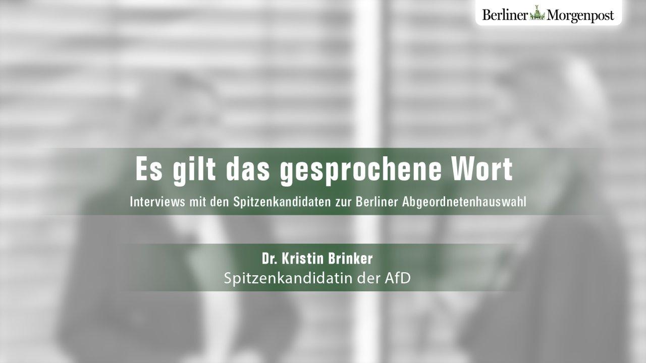 """Vor der Abgeordnetenhauswahl trifft Chefredakteurin Christine Richter die Kandidaten zum Interview """"Es gilt das gesprochene Wort""""."""