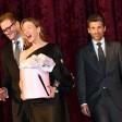 Patrick Dempsey (r), Renee Zellweger und Colin Firth hatten bei der Premiere von Bridget Jones' Babyoffenbar viel Spaß