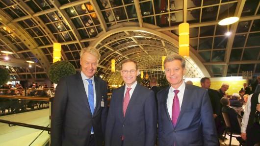 UVB-Hauptgeschäftsführer Christian Amsinck, Michel Müller und UVB-Präsident Udo Niehage (v.l.)