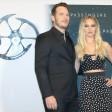 """Jennifer Lawrence und Chris Pratt bei ihrer Pressekonferenz im """"Adlon"""""""